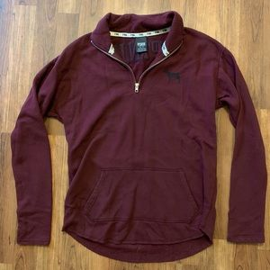Pink XS half zip hoodie